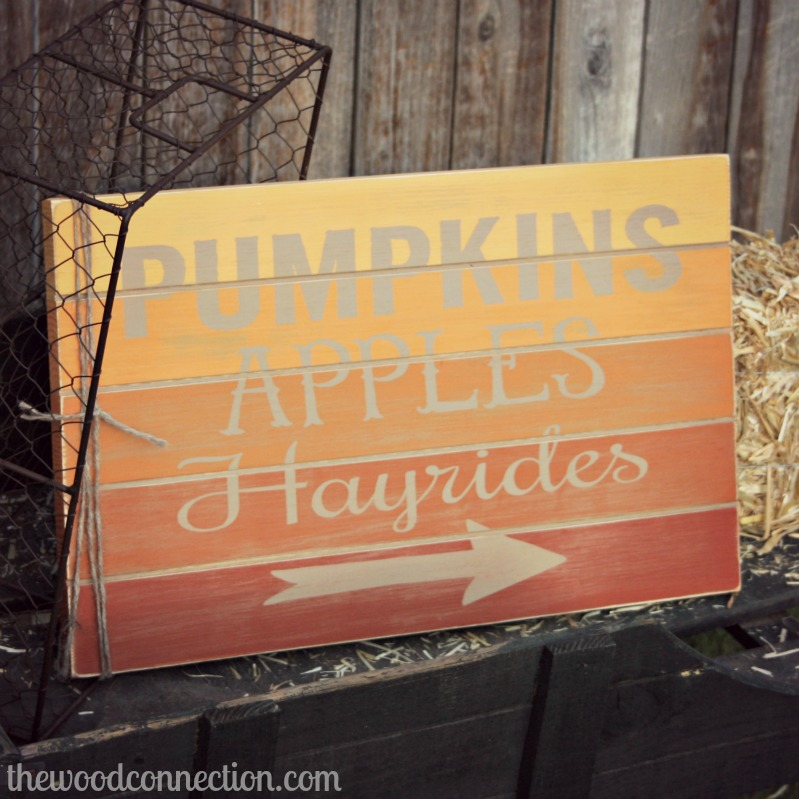 ombre fall sign