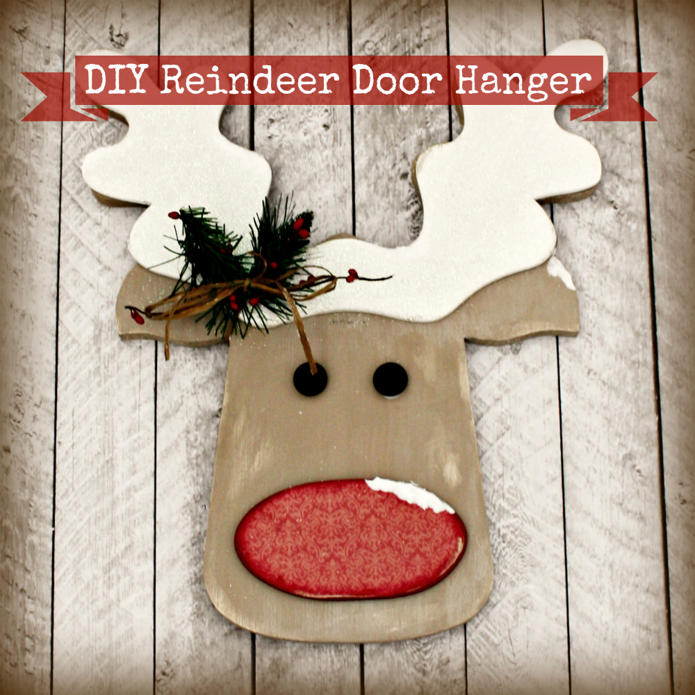 diy decorations reindeer diy reindeer door hang the wood connection