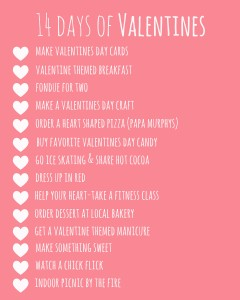14 Days of Valentines Printable