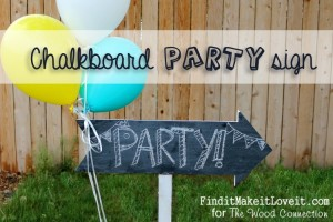 Chalkboard Party Arrow
