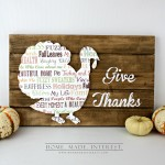 Give Thanks Turkey Slat Sign_WC