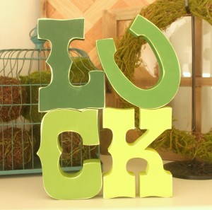 Ombre Luck Letters