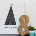 Lolly Jane Wooden Tee Pee Sign
