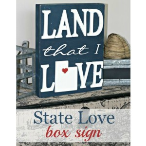 Land That I Love Box Sign