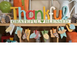 Thankful Letter Set with Gratitude Banner
