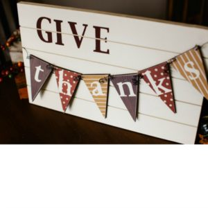 Give Thanks Slat Sign