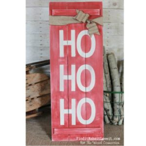 Ho Ho Ho Porch Sign