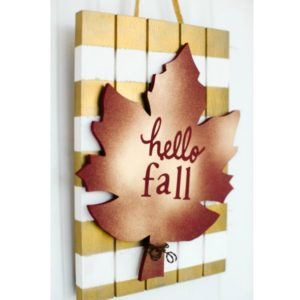 Fall Leaf Slat Door Hang