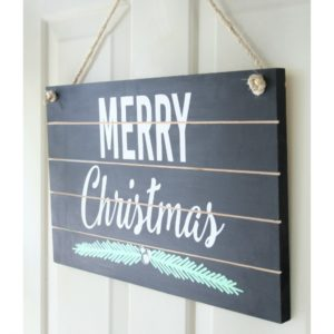 DIY Christmas Slat Sign