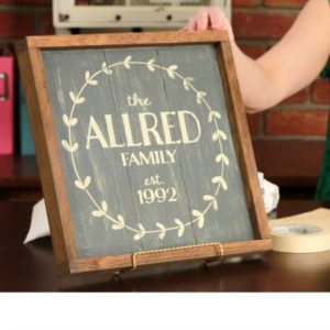 MY CRAFT CHANNEL: Family Established Sign