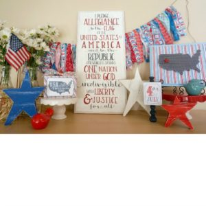 Patriotic Mantel Decor