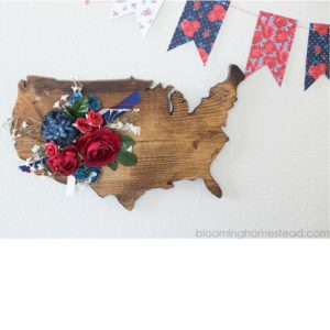 Rustic Floral USA Decor