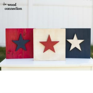 Easy Patriotic Stars with Dyed Wood