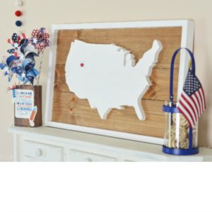 USA FRAMED PLANK
