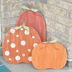 Fall Plank Pumpkins